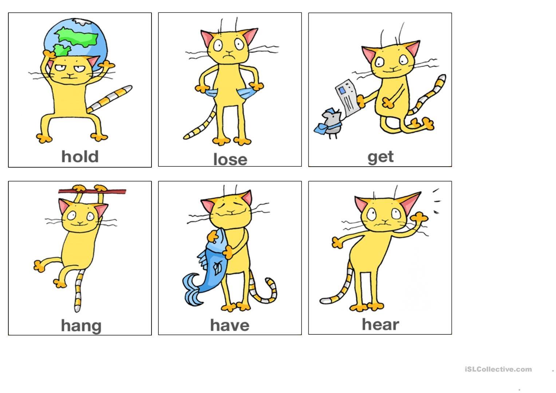 Irregular Verbs Flashcards Part 1 (From App Worksheet - Free Esl - Irregular Verbs Flashcards Printable Free