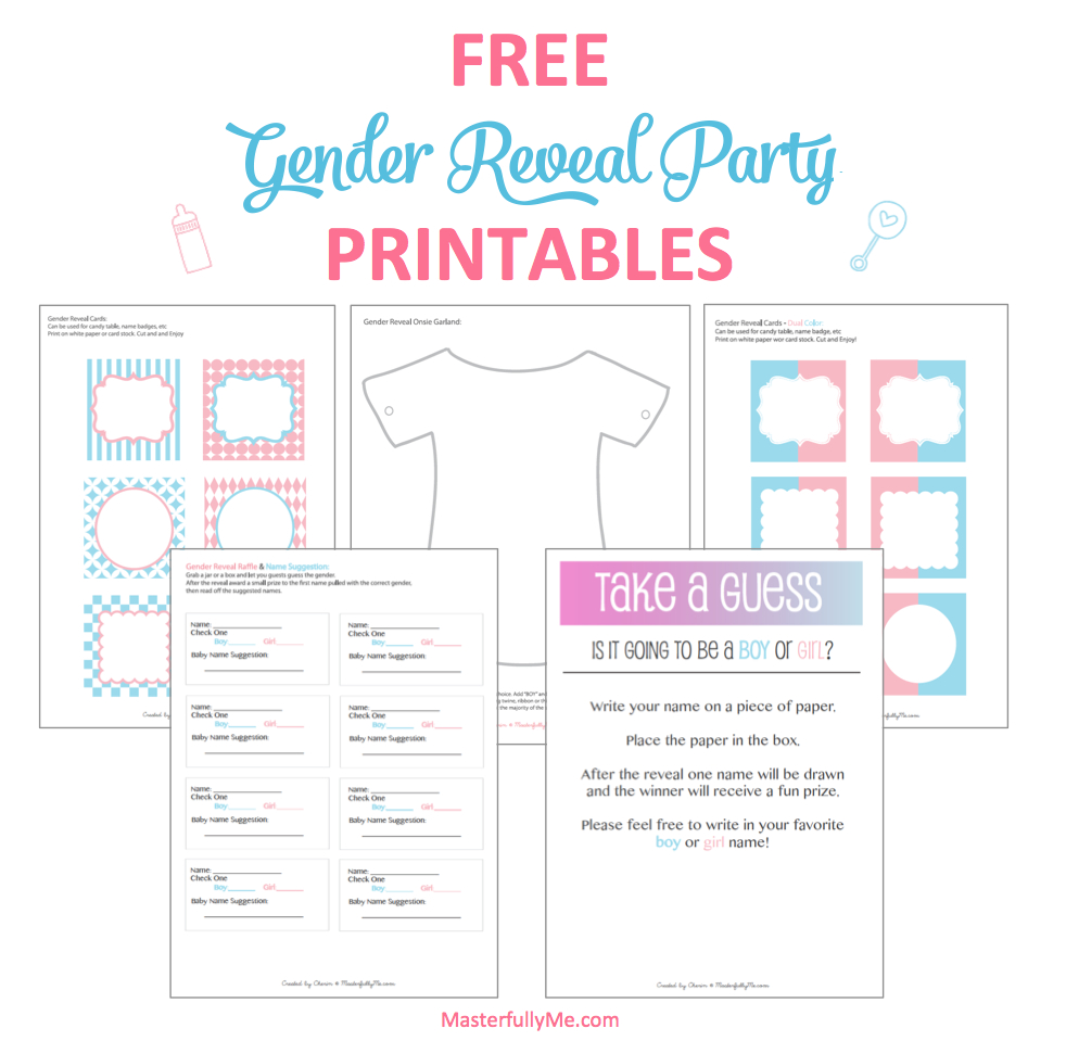 Is It A Boy Or A Girl !! Free Gender Reveal Party Printable - Free Printable Gender Reveal Games