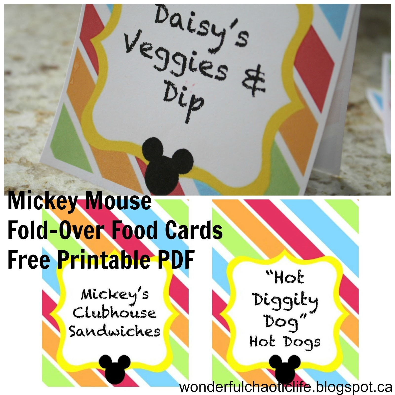 It's My Wonderful Chaotic Life: Mickey Mouse Birthday Party Free - Mickey Mouse Clubhouse Free Printables