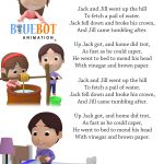 Jack And Jill Nursery Rhyme Lyrics Free Printable Nursery Rhyme   Free Printable Nursery Rhymes Songs
