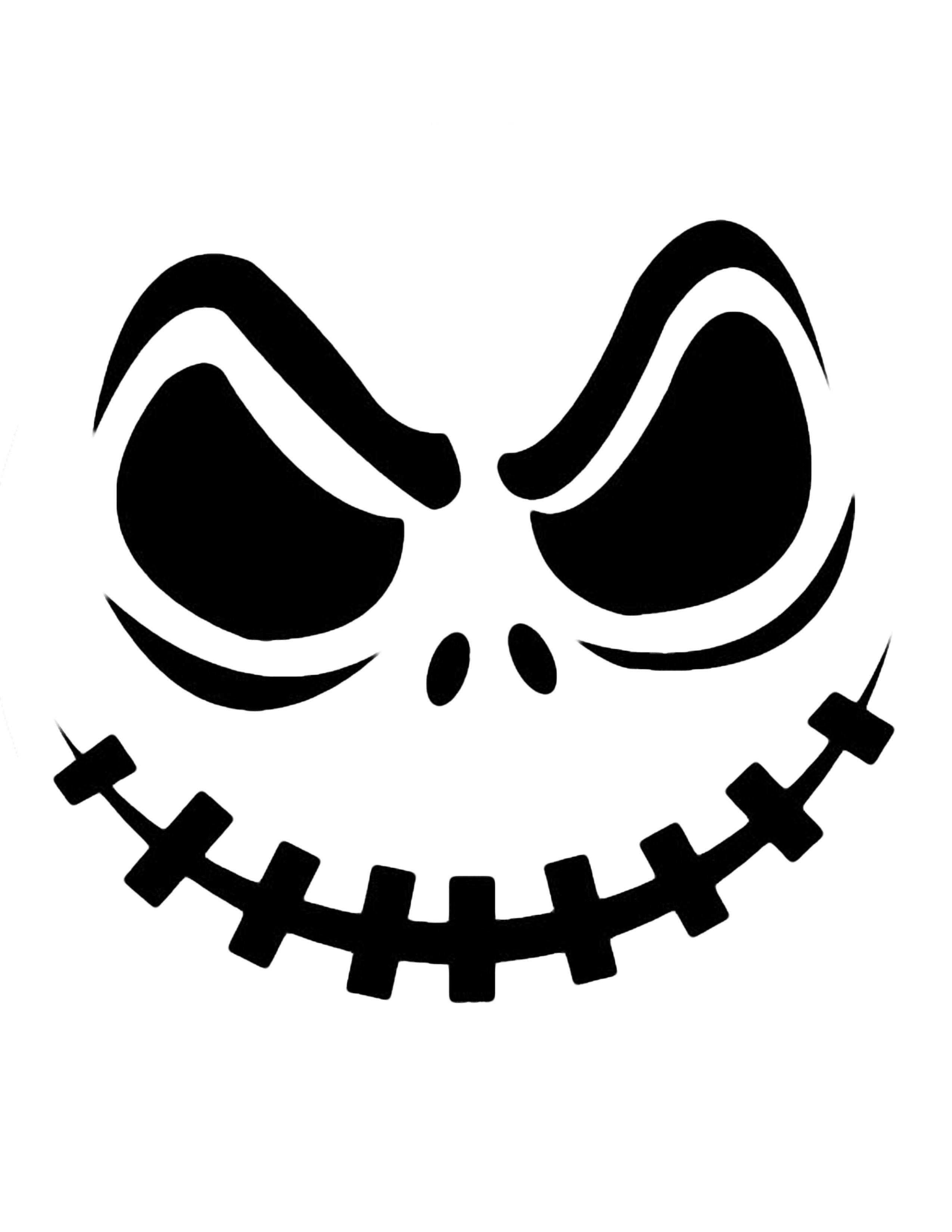 Jack Skellington Pumpkin | Cricut Cutter Ideas | Halloween Pumpkin - Free Printable Pumpkin Stencil