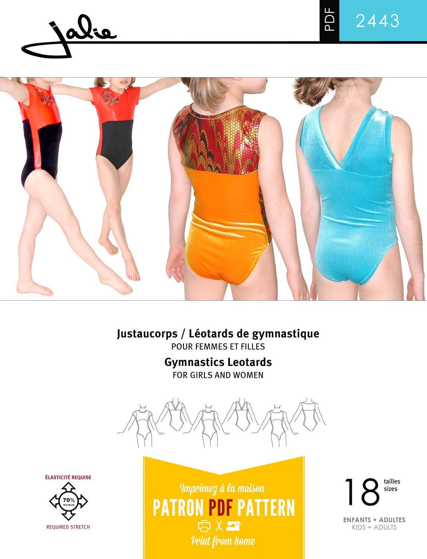 Jalie 2443 - Gymnastics Leotard Pattern - Sewing Patterns - Free Printable Leotard Pattern