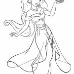 Jasmine Coloring Pages To Print Archives   Free Coloring Pages For   Free Printable Princess Jasmine Coloring Pages