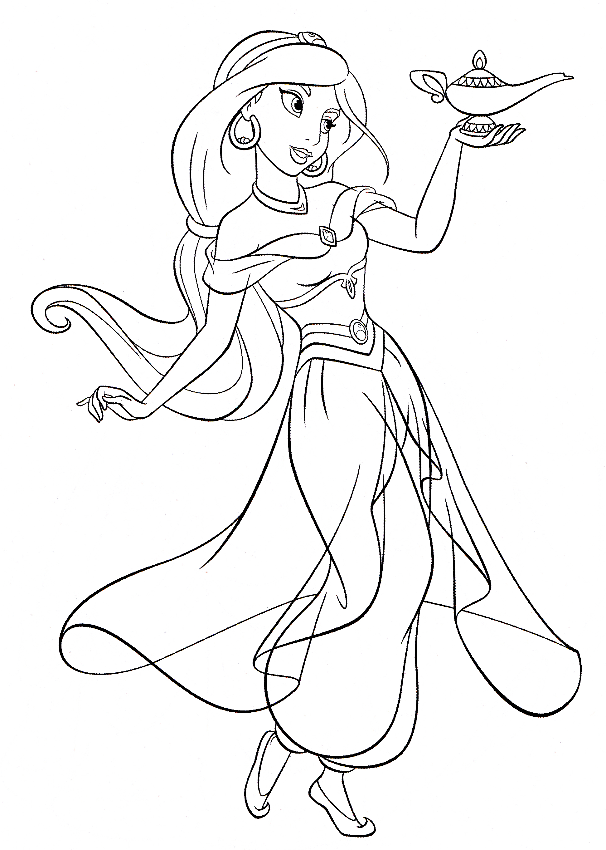 Jasmine Coloring Pages To Print Archives - Free Coloring Pages For - Free Printable Princess Jasmine Coloring Pages