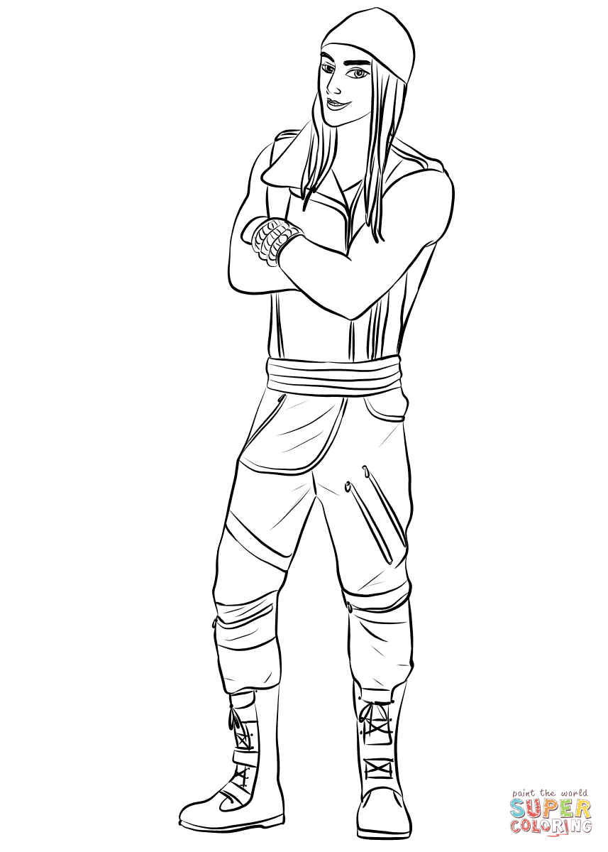 Jay From Descendants Coloring Page | Free Printable Coloring Pages - Free Printable Descendants Coloring Pages