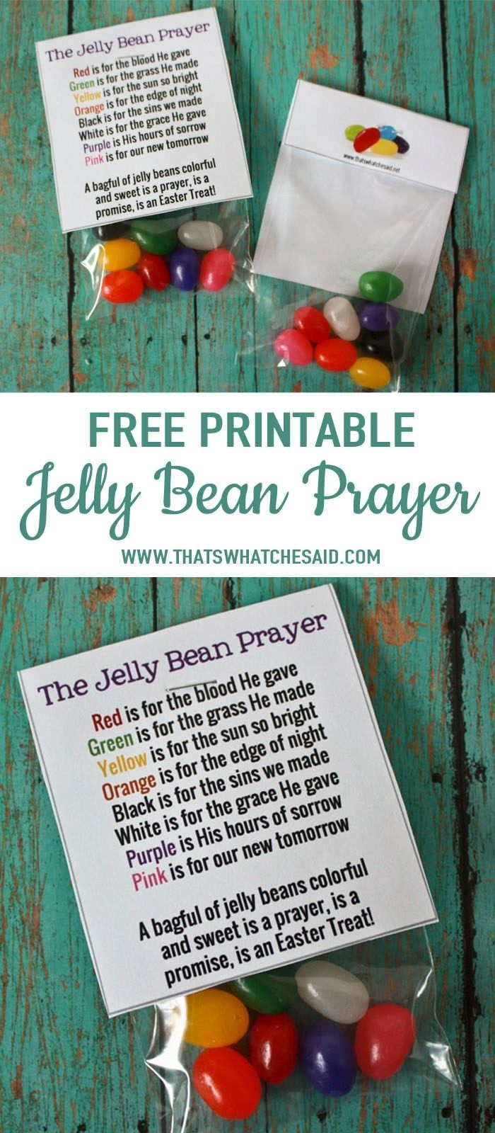 Jelly Bean Prayer Free Printable   As Seen On Thatswhatchesaid - Free Printable Easter Sermons