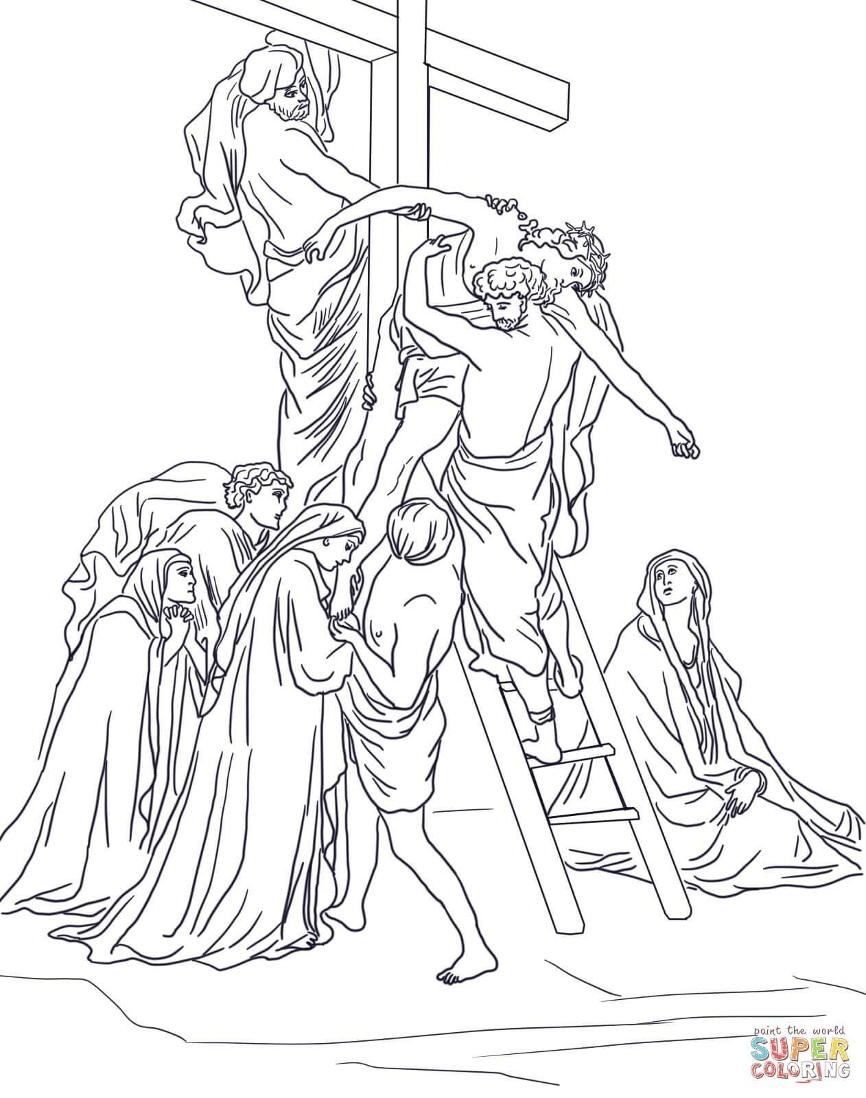 Jesus Stationen Des Kreuzes Ausmalbilder #ausmalbilder #jesus - Free Printable Good Friday Coloring Pages