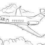 Jet Airplane Coloring Page | Free Printable Coloring Pages   Free Planes Printables