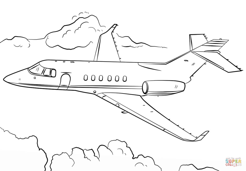 Jet Airplane Coloring Page | Free Printable Coloring Pages - Free Planes Printables