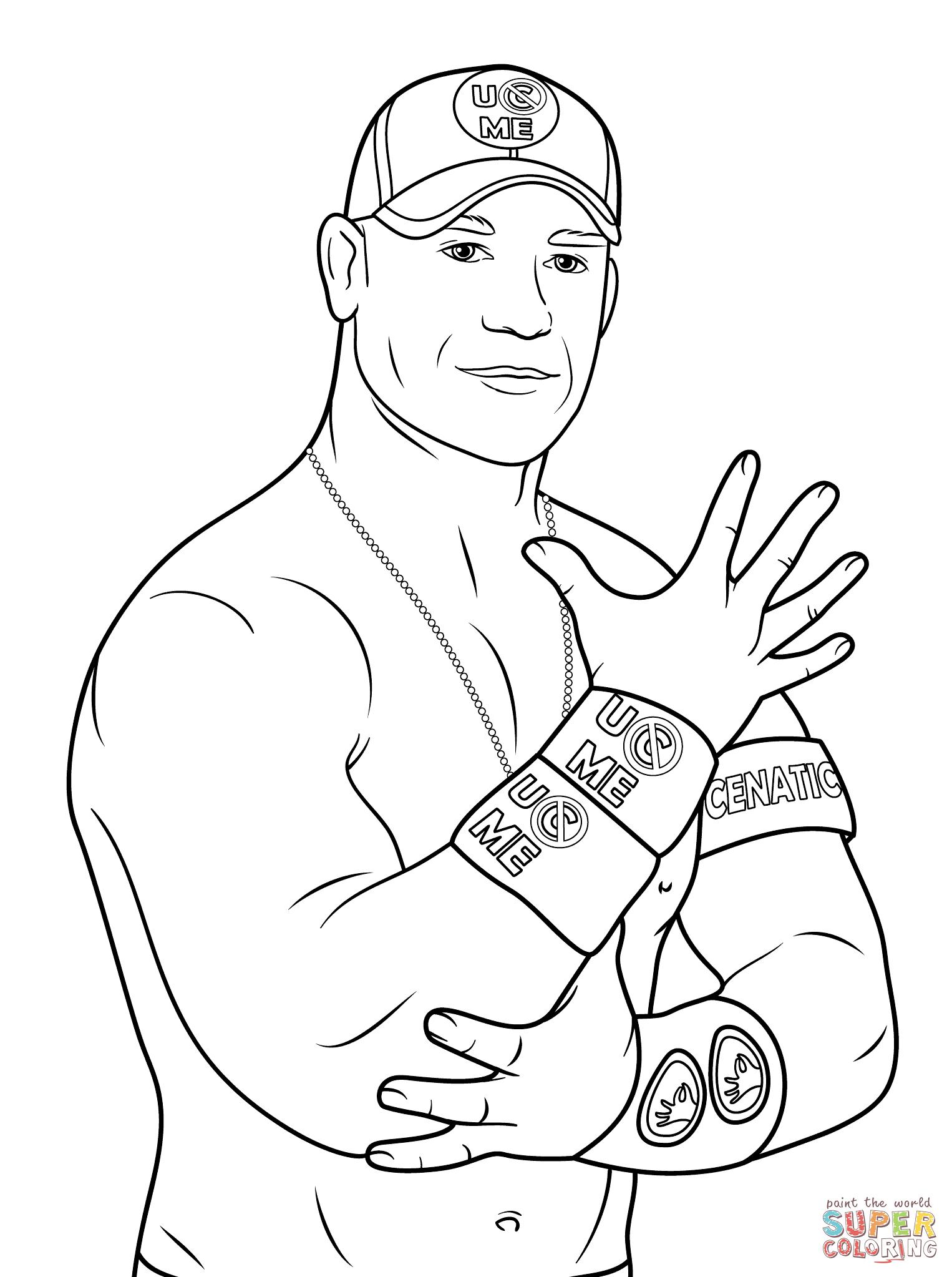 John Cena Coloring Page | Free Printable Coloring Pages - Wwe Colouring Pages Free Printable