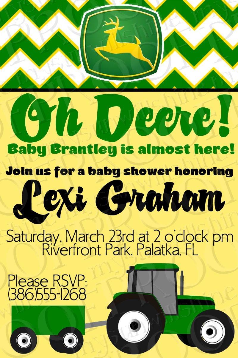 John Deere Baby Shower Invitation-Would Be Good For Birthday Invite - Free Printable John Deere Baby Shower Invitations