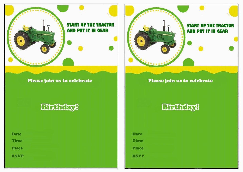 John Deere Free Printable Birthday Party Invitations   Birthday - Free Printable John Deere Baby Shower Invitations