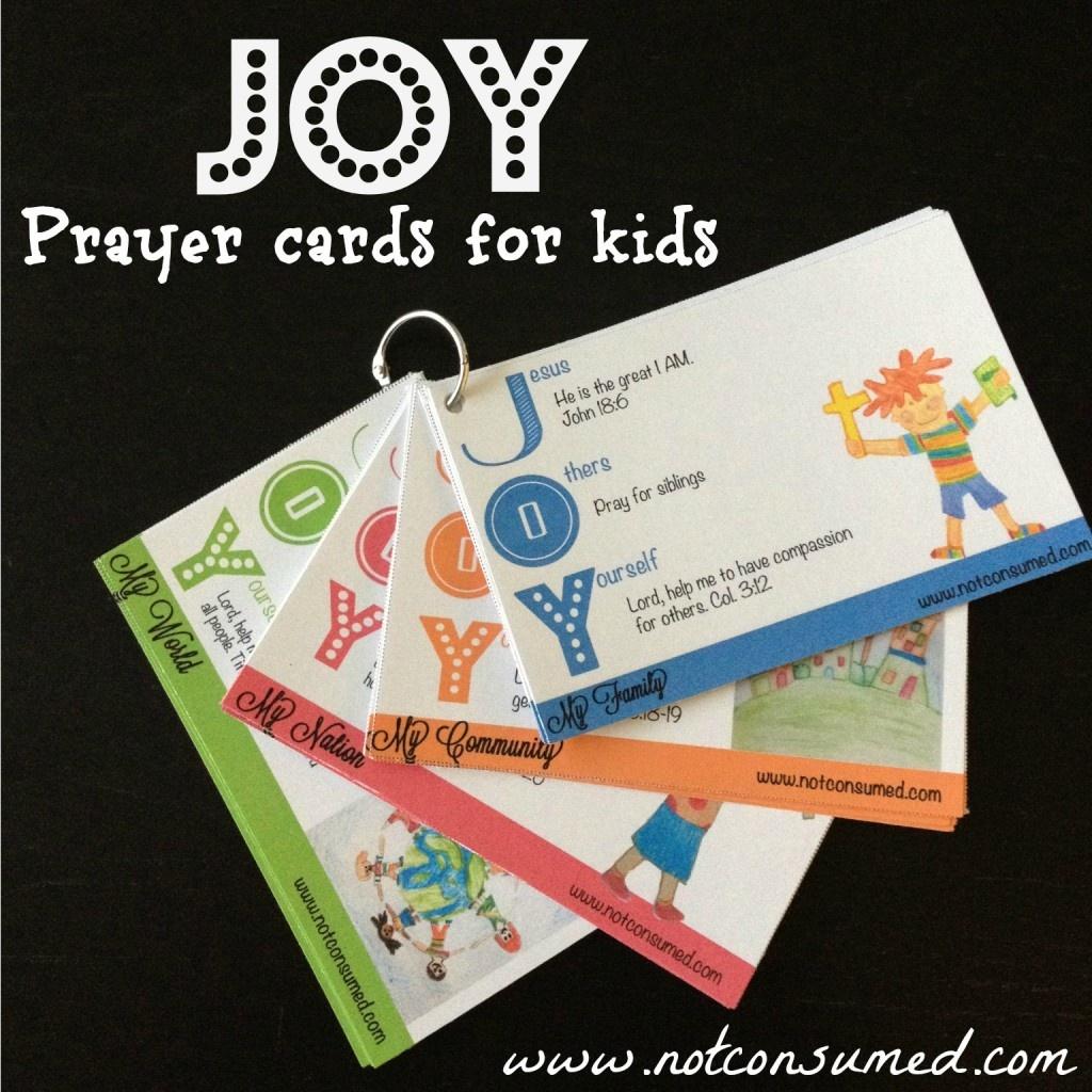 Joy Prayer Cards For Kids - Money Saving Mom® : Money Saving Mom® - Free Printable Prayer Cards For Children
