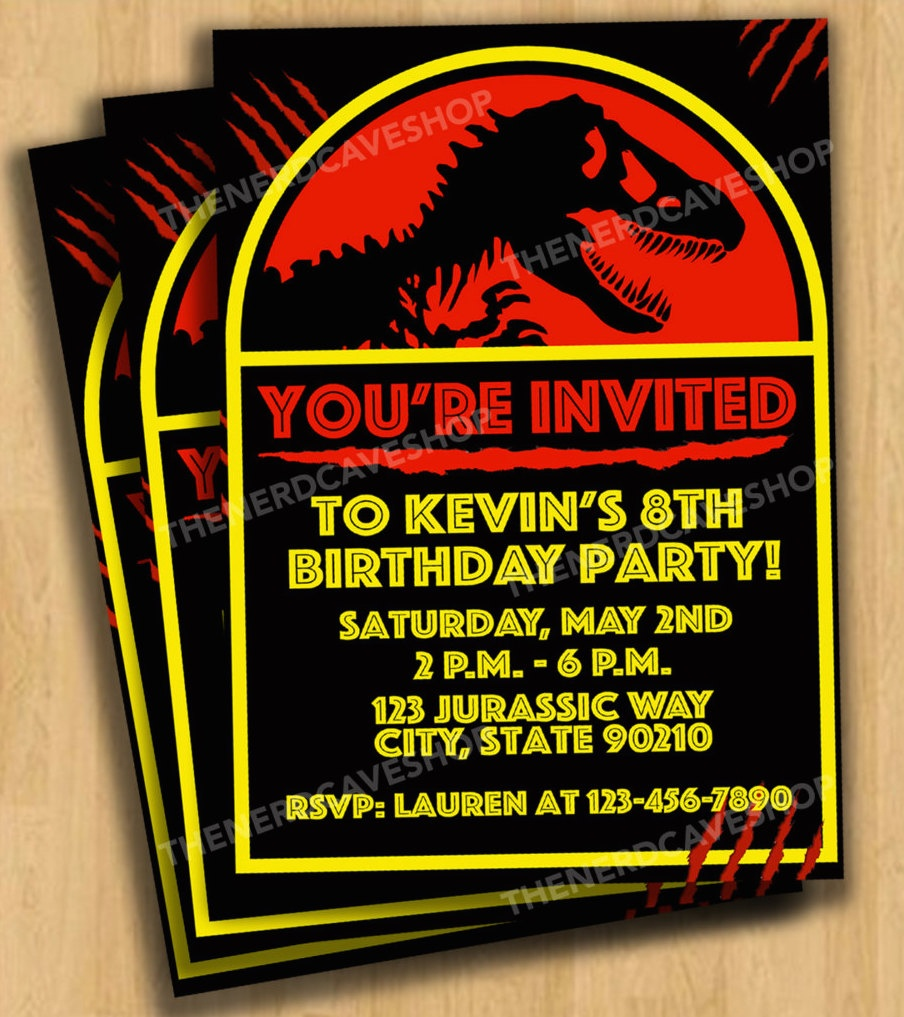 Jurassic World Dinosaur Party Planning Ideas & Supplies - Free Printable Jurassic World Invitations
