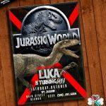 Jurassic World Invitation Printable With Free Thank You Card | Etsy   Free Printable Jurassic World Invitations