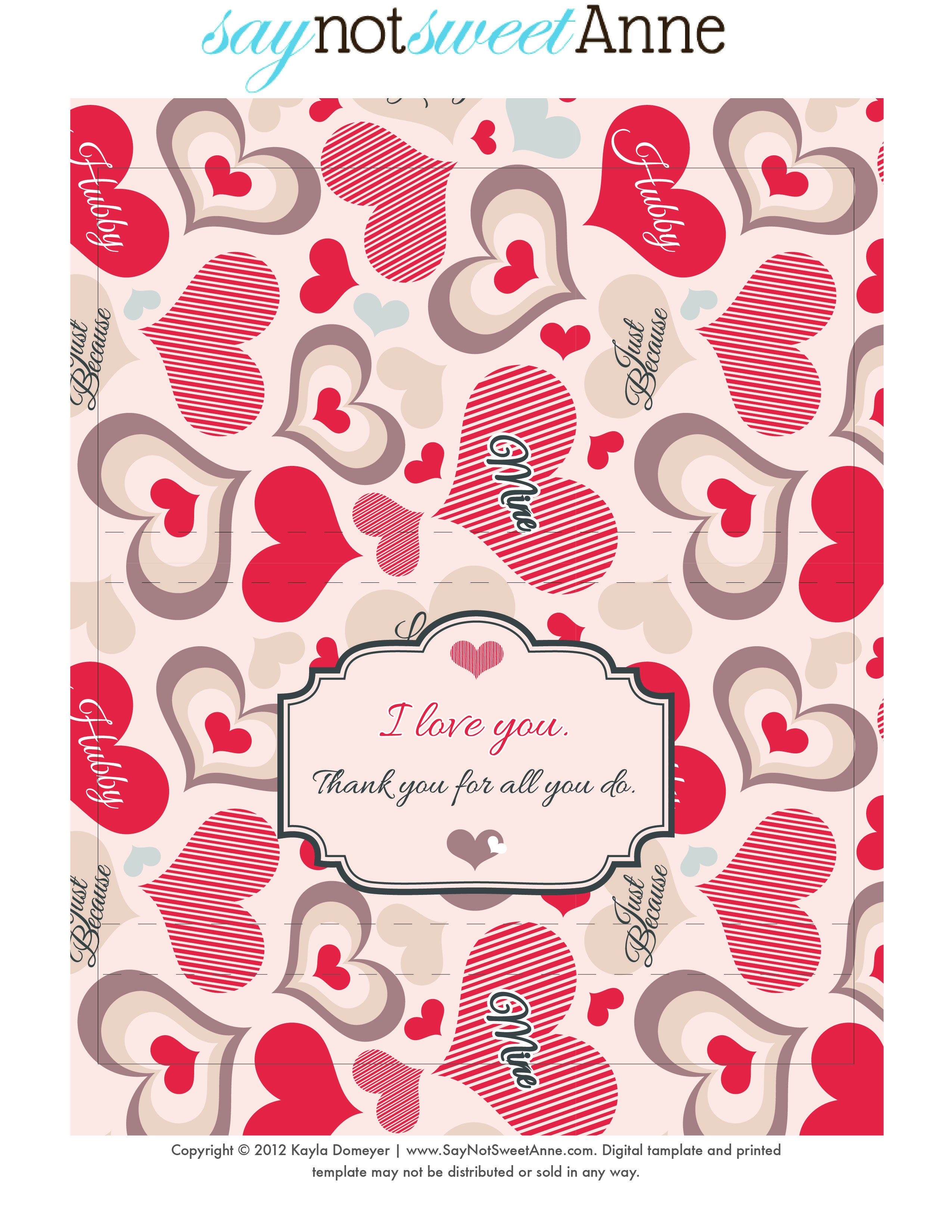 Just Because Candy [Free Printable   Digi Freebies   Free Candy - Free Candy Wrapper Printable