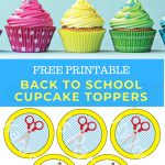 Kara's Party Ideas Free Printable Back To School Cupcake Toppers   Alice In Wonderland Cupcake Toppers Free Printable