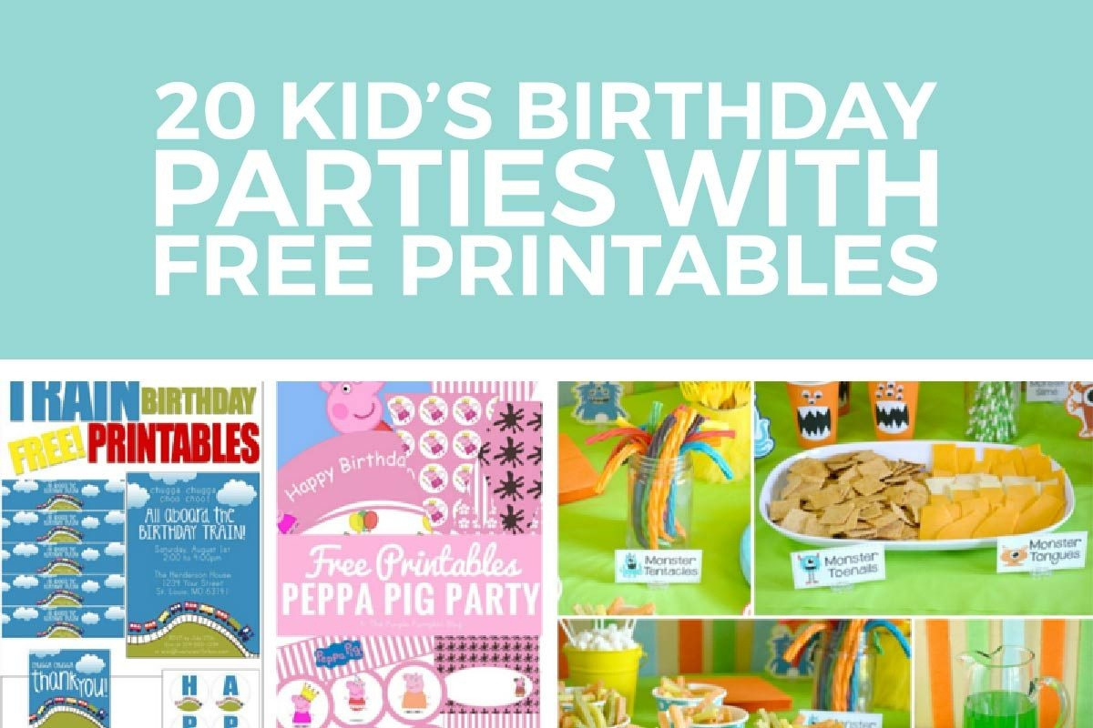 Kids Birthday Party Ideas With Free Printables - Free Birthday Printables