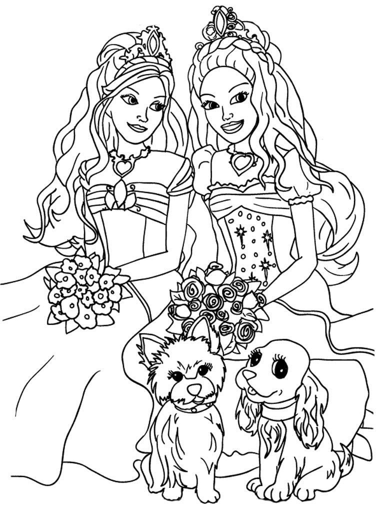 Kids Coloring Sheets   Barbie And The Diamond Castle Printable Kids - Free Printable Barbie Coloring Pages