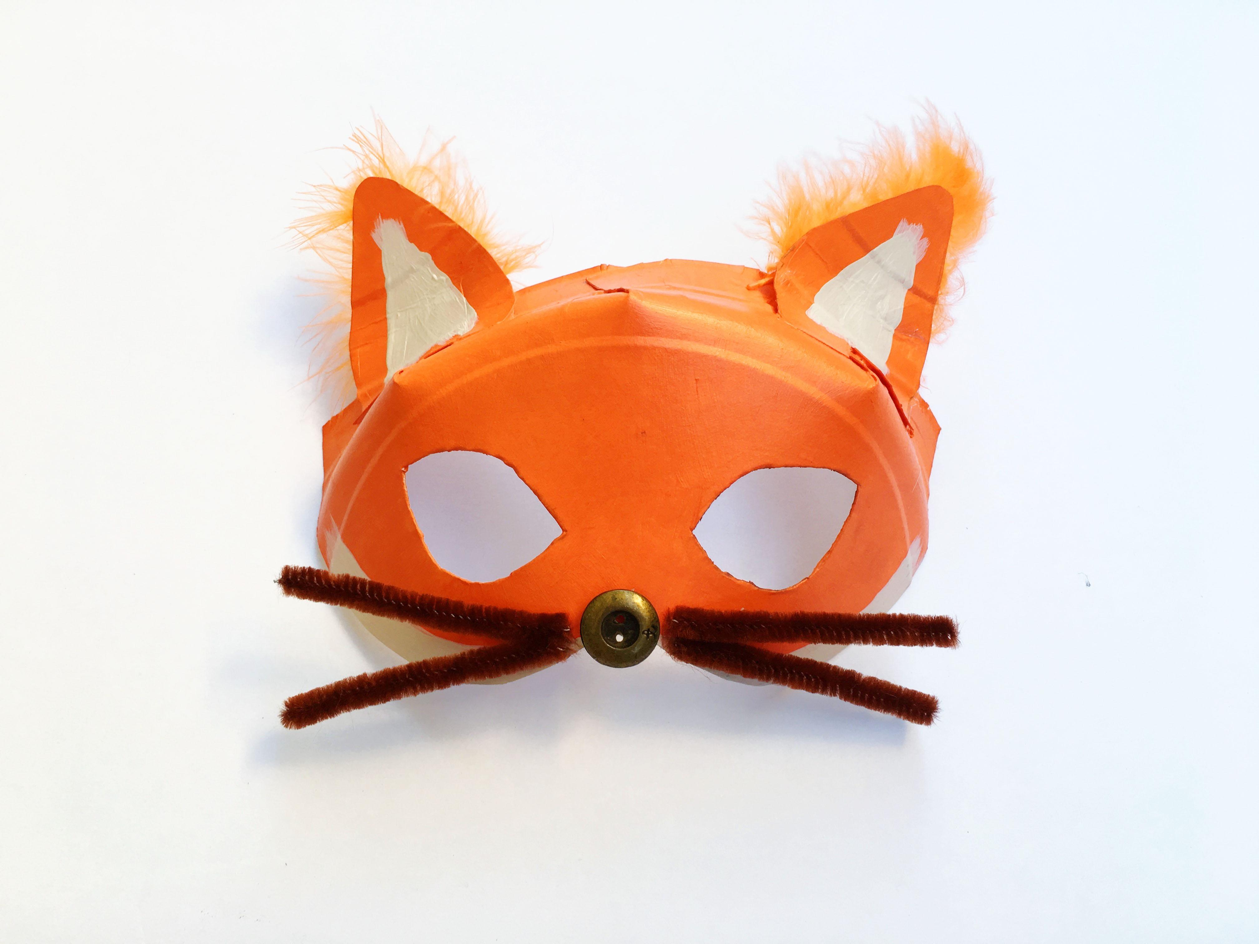 Kids Halloween Costume - Diy Paper Plate Mask - Creating Creatives - Free Printable Fox Mask Template