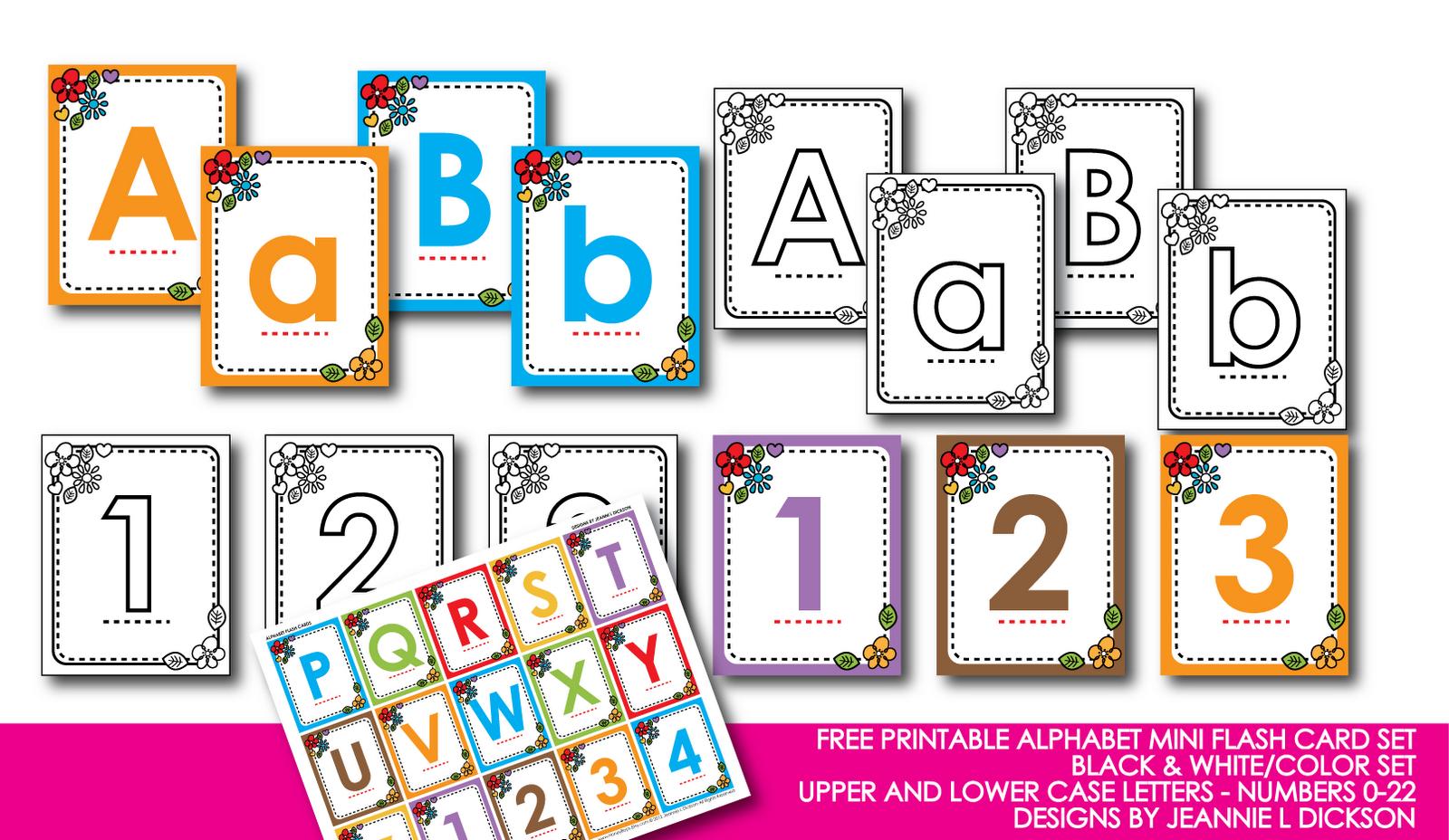 Kindergarten Alphabet Cards | Free Printable Alphabet Mini Flash - Free Printable Colored Letters Of The Alphabet