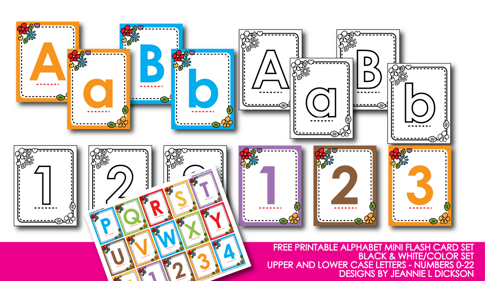 Kindergarten Alphabet Cards | Free Printable Alphabet Mini Flash - Free Printable Flash Cards