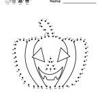 Kindergarten Halloween Connect The Dots Worksheet Printable | Free   Free Printable Halloween Worksheets