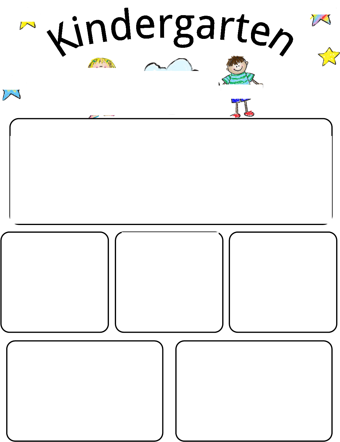 Kindergarten Newsletter Template 1 For Free Tidyform | Kids - Free Printable Kindergarten Newsletter Templates