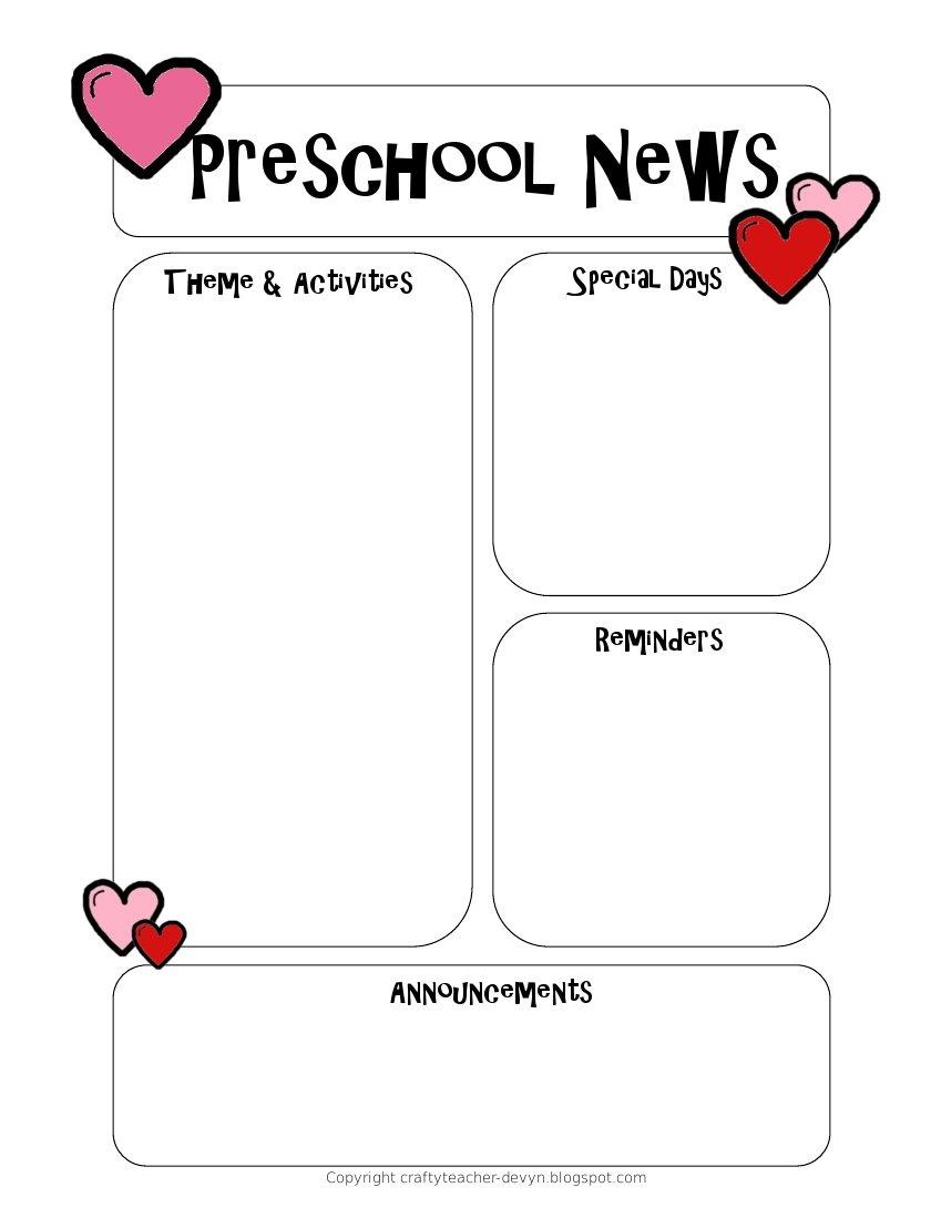 Kindergarten Newsletter Templates - Design Templates - Free Printable Kindergarten Newsletter Templates