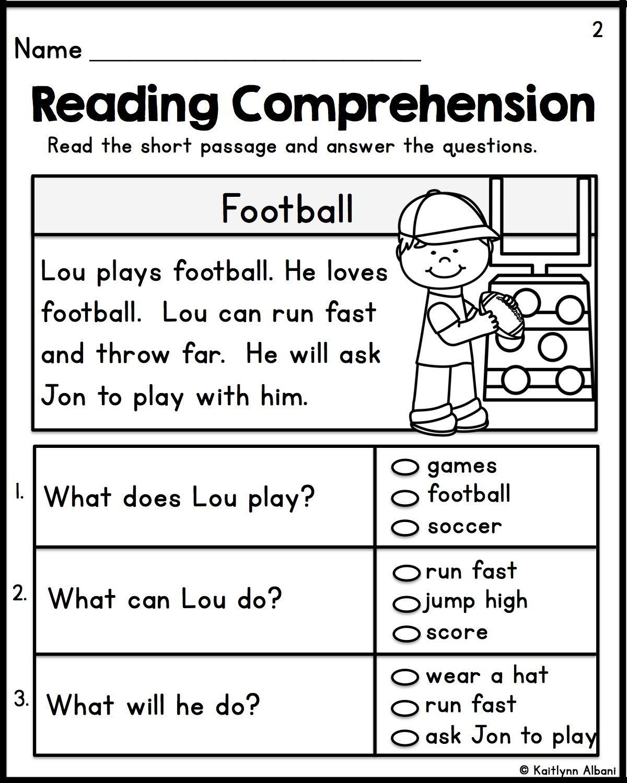 Kindergarten Reading Comprehension Passages - Set 1 | Teacher - Free Printable Easy Readers For Kindergarten