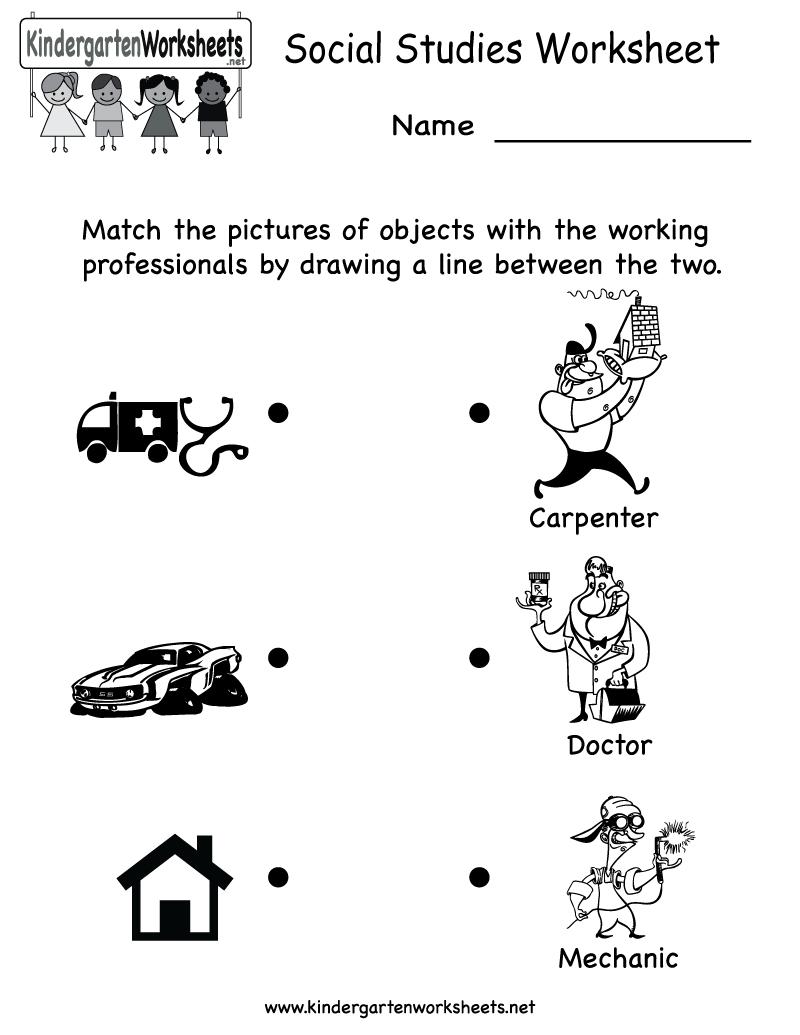 Kindergarten Social Studies Worksheet Printable | Worksheets (Legacy - Free Printable Social Studies Worksheets