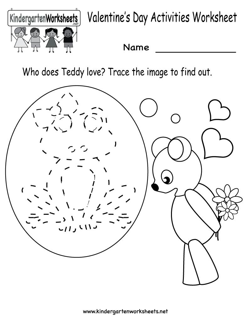 Kindergarten Valentine's Day Activities Worksheet Printable   Cute - Free Printable Valentine Activities For Kindergarten