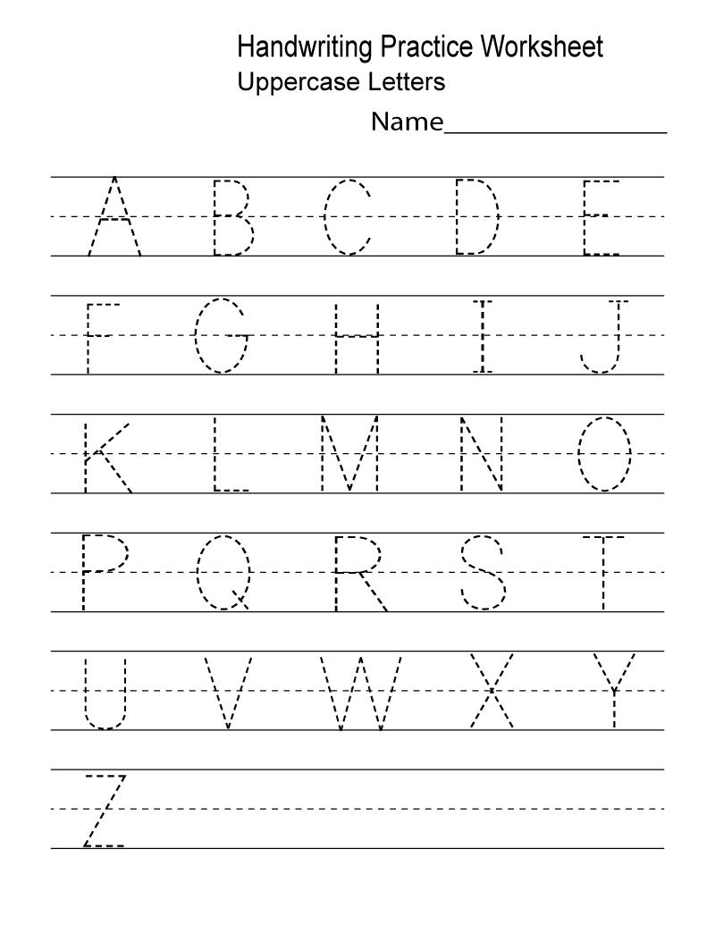 Kindergarten Worksheets Pdf Free Download Handwriting | Learning - Free Printable Alphabet Worksheets For Kindergarten