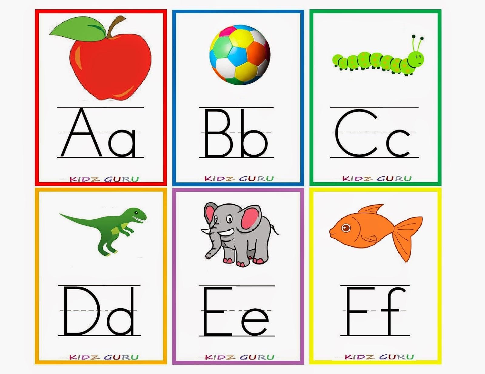 Kindergarten Worksheets: Printable Worksheets - Alphabet Flash Cards 1 - Abc Flash Cards Free Printable