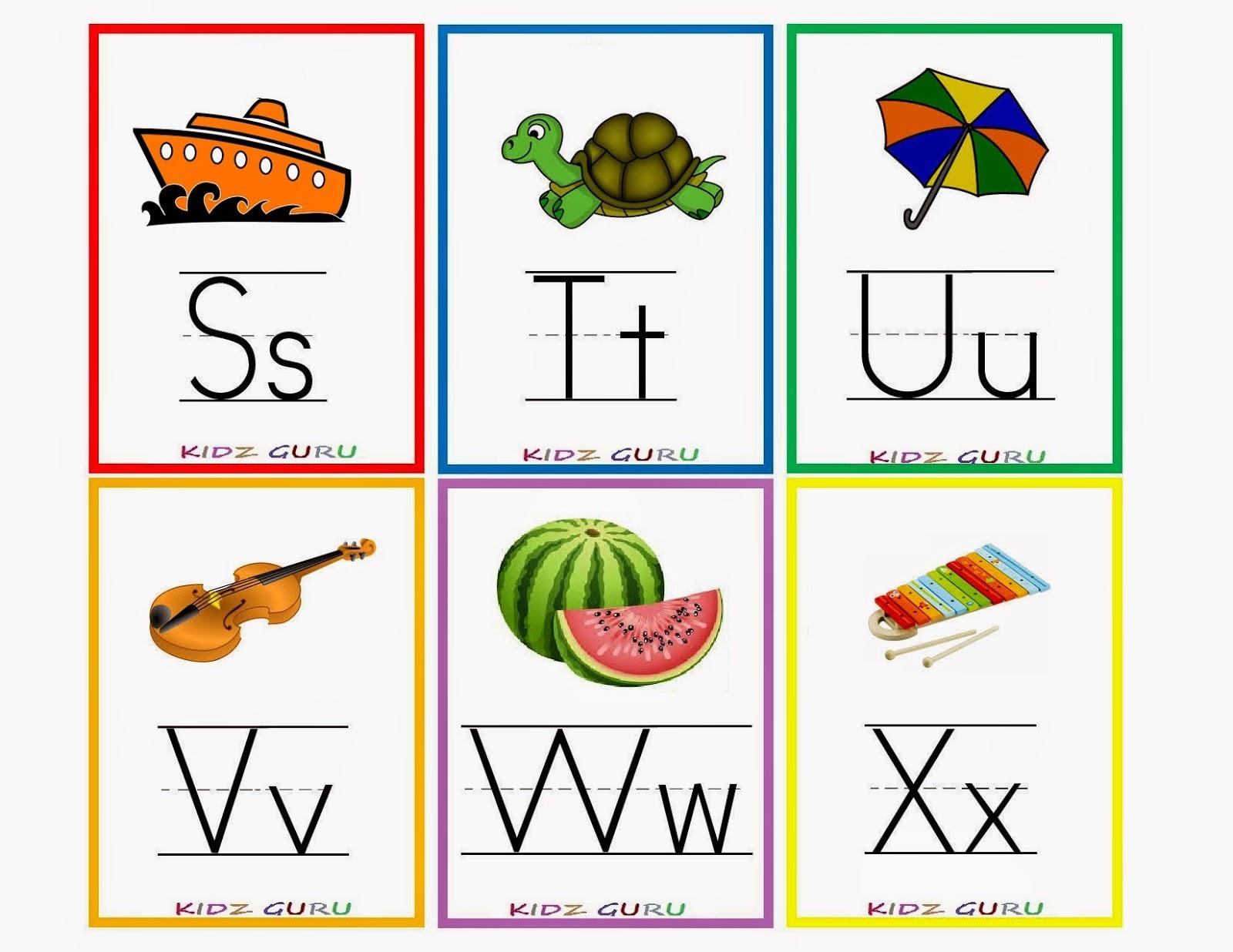 Kindergarten Worksheets: Printable Worksheets - Alphabet Flash Cards 4 - Abc Flash Cards Free Printable