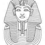 King Tut Mask Coloring Page   Print. Color. Fun!   Free Printable Egyptian Masks