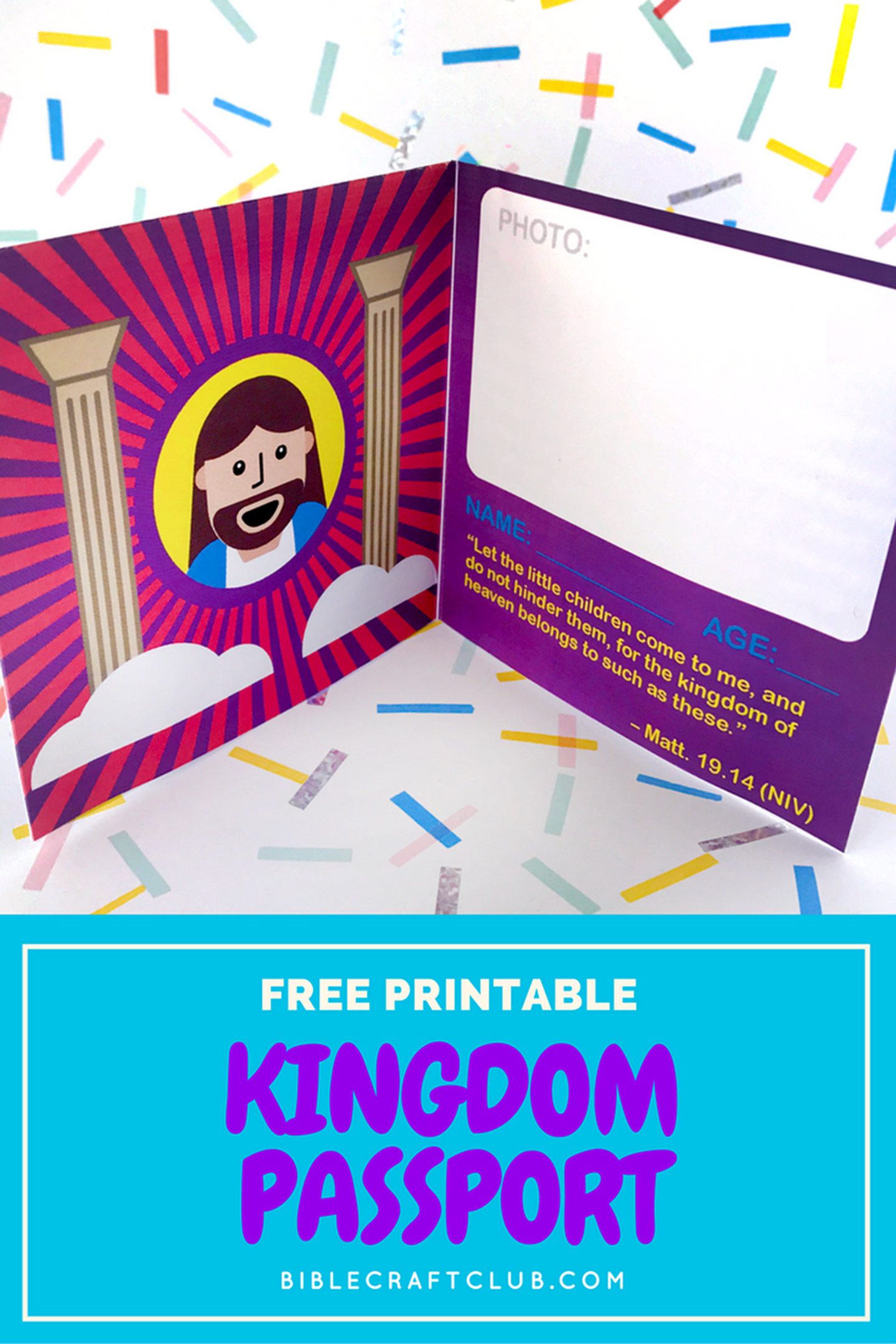 Kingdom Passport Craft | Biblecraftclub | Bible Crafts, Faith - Free Printable Bible Crafts