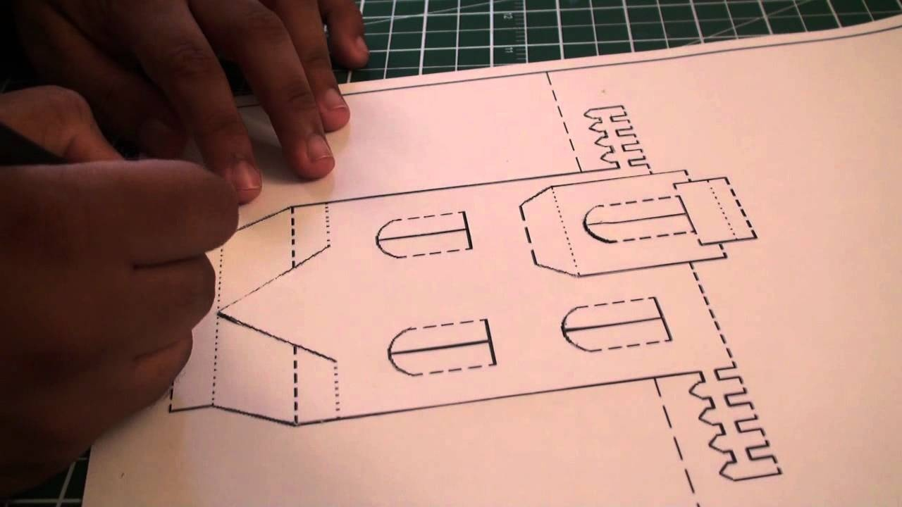 Kirigami Pop Up House | Free Template (Paper Craft) - Sunderorigami - Free Printable Kirigami Pop Up Card Patterns