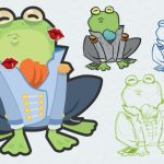 Kiss The Frog Party Game Illustration & Print – Propernerd   Pin The Kiss On The Frog Free Printable