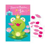 Kiss The Frog  Princess Party Game / Diy Party Game / Princess Party   Pin The Kiss On The Frog Free Printable