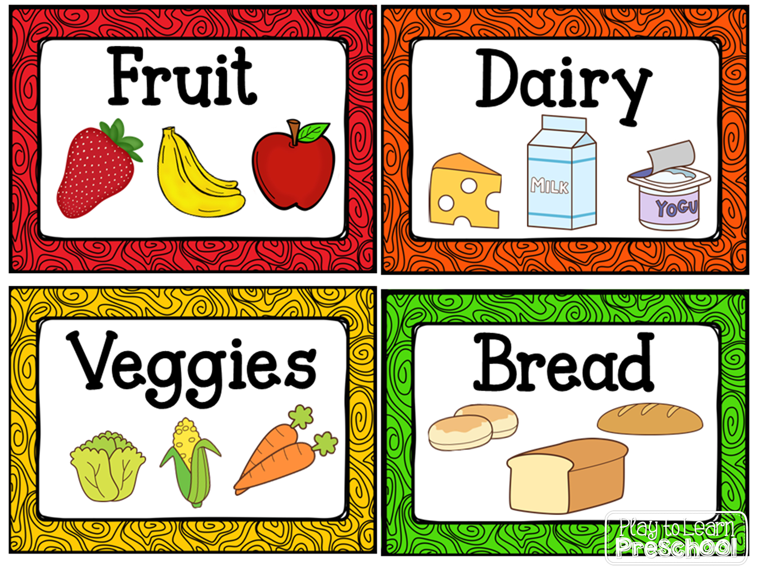 Kitchen Dramatic Play Center | Centers | Dramatic Play Centers, Play - Free Printable Play Food Labels