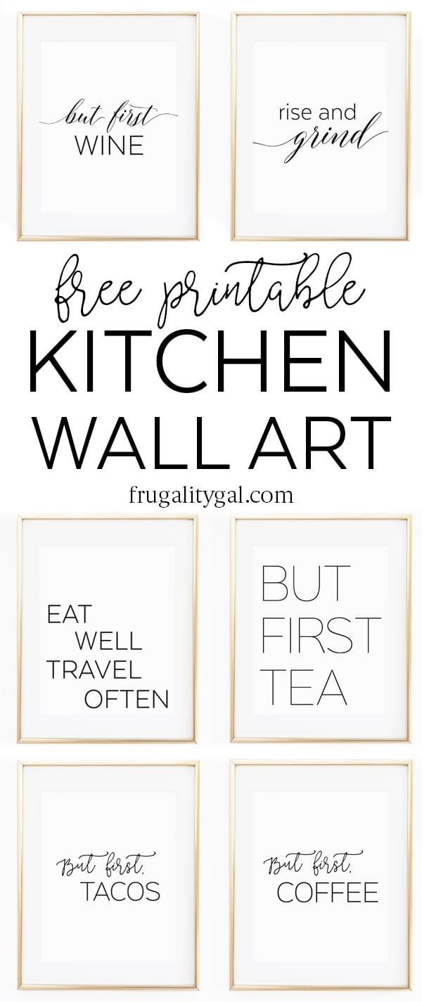 "Kitchen Wall Art - 8X10"" Set Of Six Prints - Free Printable - Free Printable Wall Art 8X10"