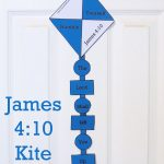 Kite Cutout Craft For Sunday School Kids James 4:10  Free Printable   Free Printable Sunday School Crafts