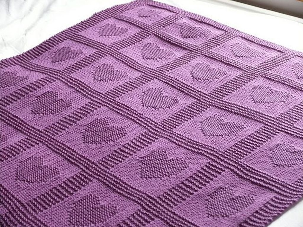 Knitted Baby Blanket Patterns Free   Fromy Love Design : Knitted - Free Printable Knitting Patterns For Baby Blankets