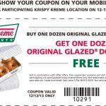 Krispy Kreme Coupon Codes   Free Printable Krispy Kreme Coupons