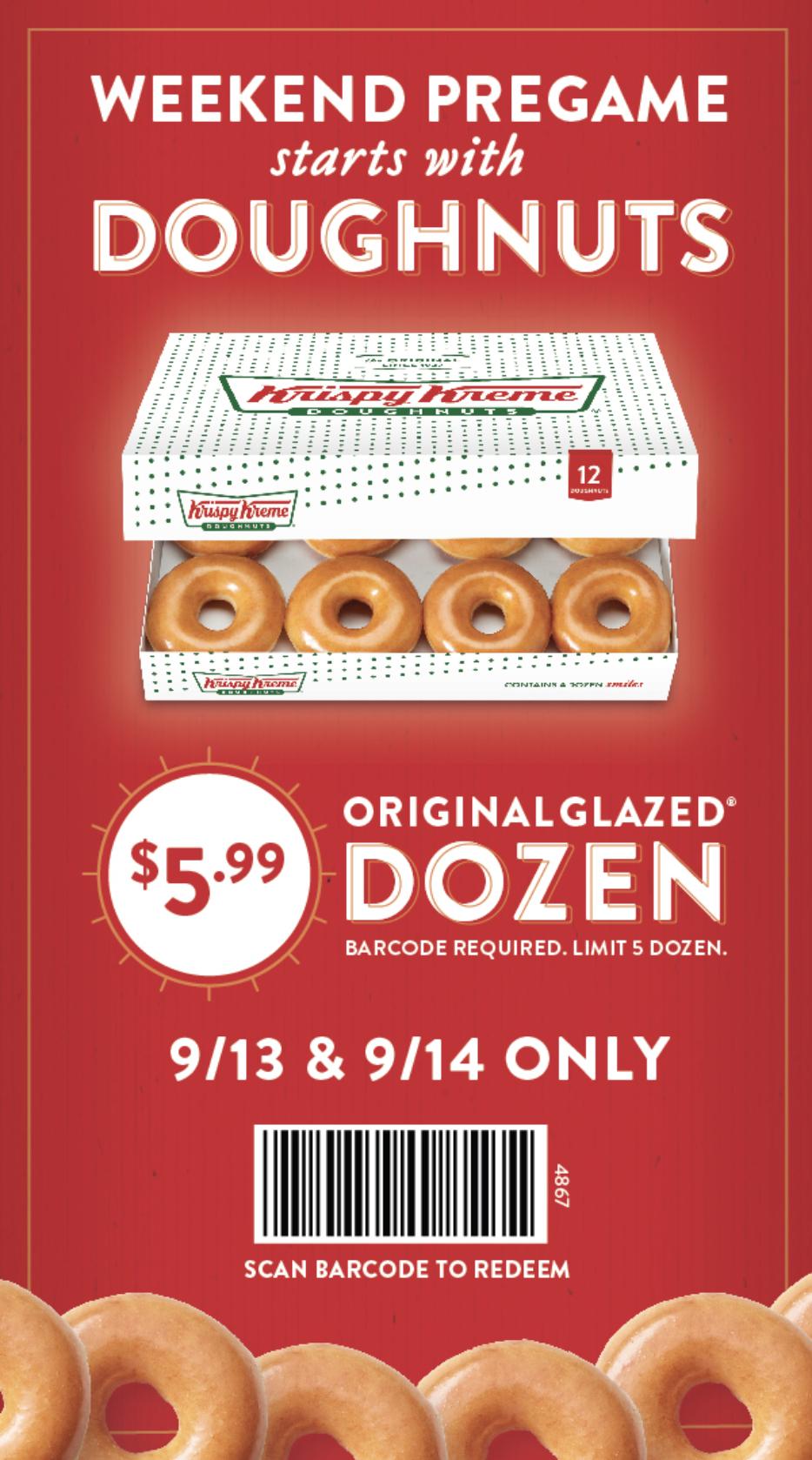 Krispy Kreme Is Offering 12 Donuts For $6 On 9/13 & 9/14 Only - Free Printable Krispy Kreme Coupons