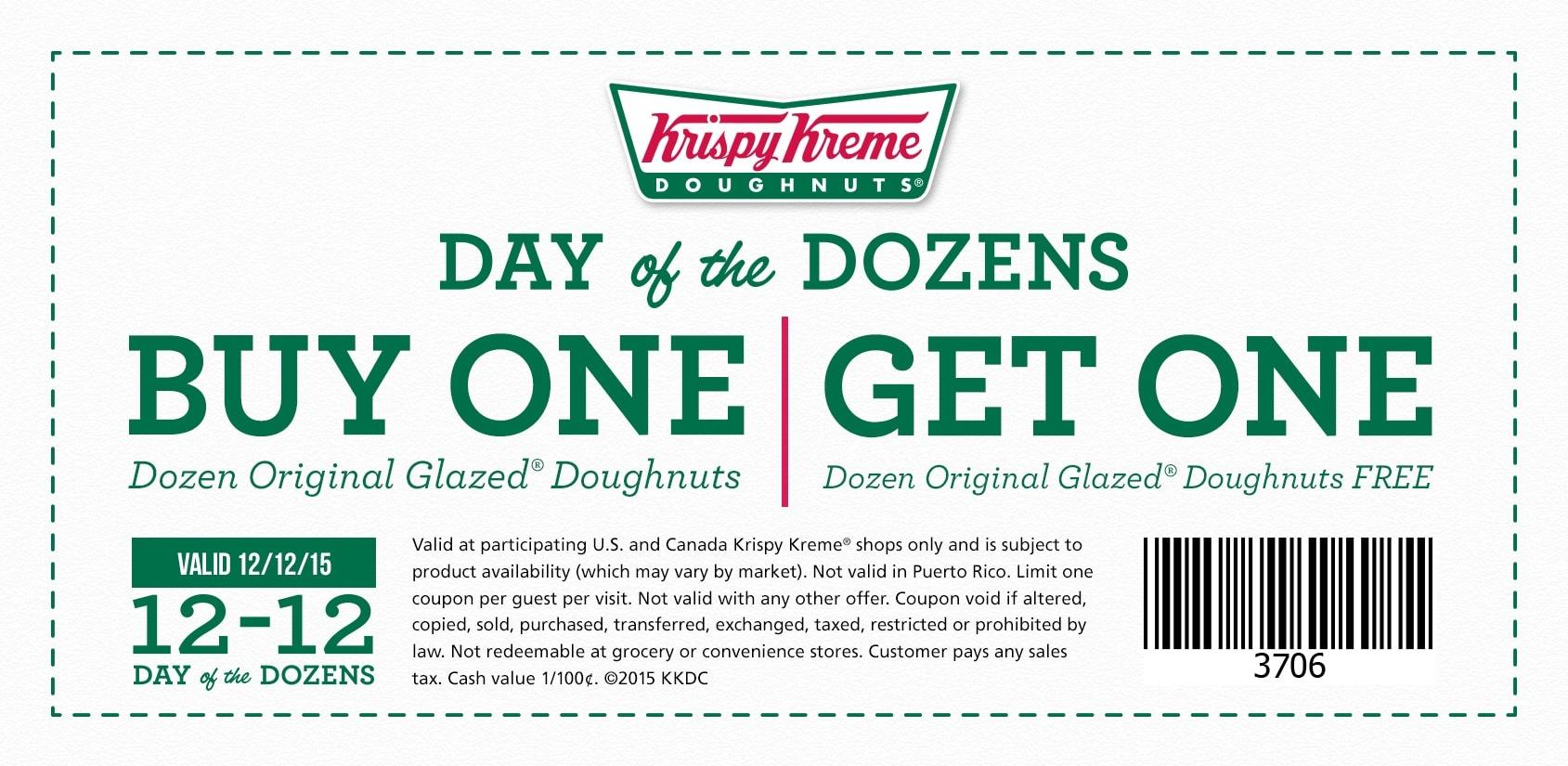 Krispy Kreme - Printable Coupons And Deals - Free Printable Krispy Kreme Coupons