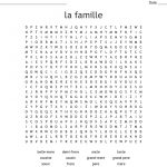 La Famille Word Search   Wordmint   French Word Searches Free Printable