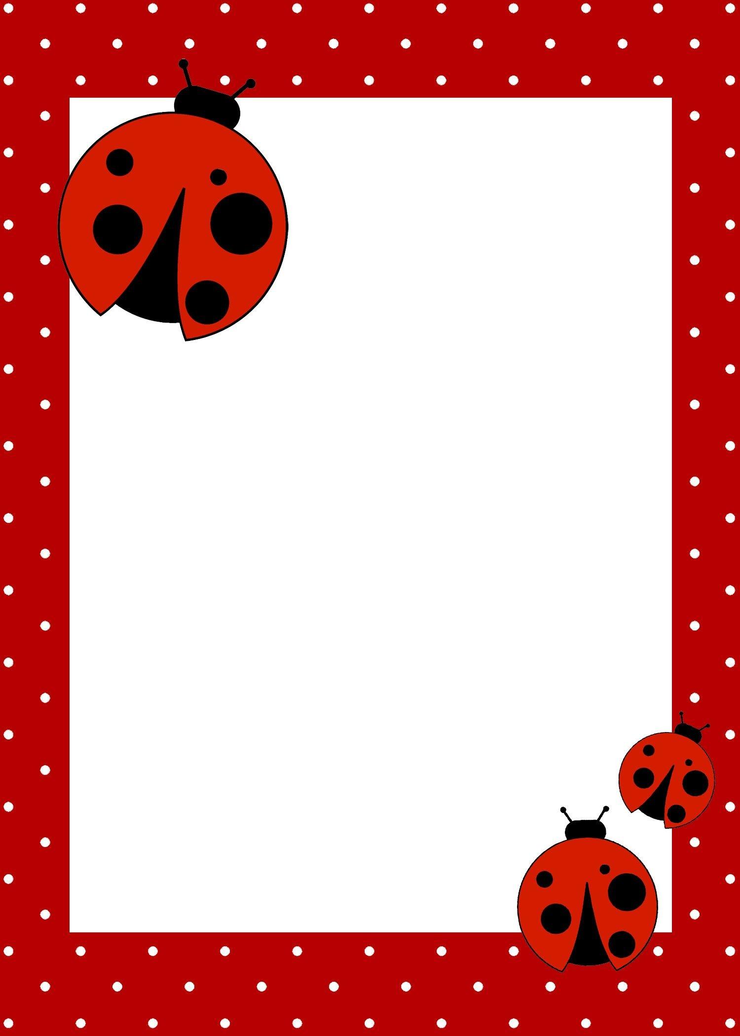 Ladybug Birthday Party With Free Printables   Cool Ideas - Free Printable Ladybug Stationery