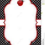 Ladybug Invitation Template Stock Vector   Illustration Of Birthday   Free Printable Ladybug Invitations
